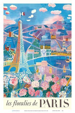 The Flowers of Paris, France (Les floralies de Paris) - Eiffel Tower