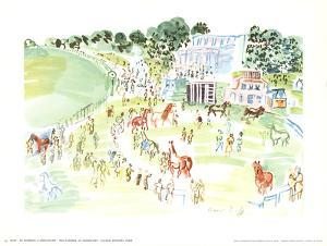 The Paddock at Longchamp by Raoul Dufy