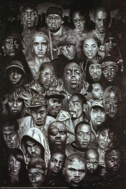 Rap Gods (Rapper Collage) Music Poster Print