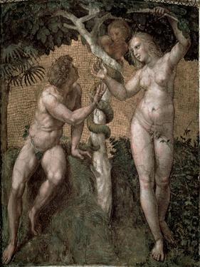 Adam and Eve, from the 'Stanza Della Segnatura', c.1508-11 by Raphael
