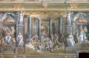 Baptism of Constantine by Raphael