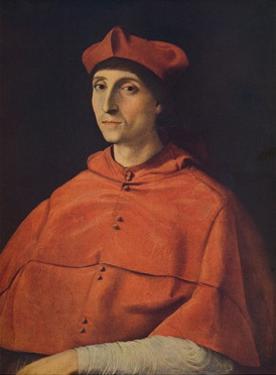 'Cardenal Scarramuccia Trivulzio', (Portrait of a cardinal), c1510, (c1934) by Raphael