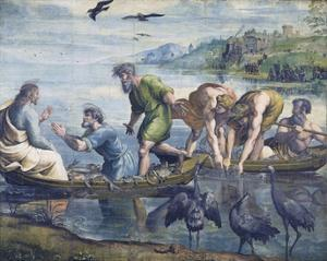 Cartoon for The Miraculous Draught of Fishes by Raphael