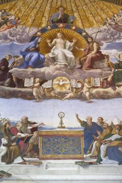 Detail of the Disputation of the Holy Sacrament, C.1509-10 by Raphael