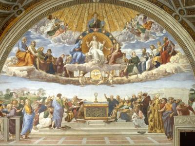 Disputa, from the Stanza della Segnatura, 1508-11 by Raphael