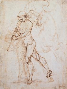 Drawing, Flagman by Raphael