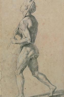 Drawing, Male Nude Walking by Raphael