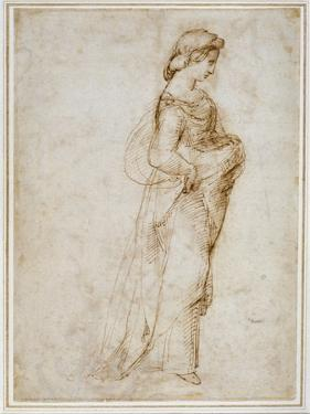 Female Figure Walking to Right by Raphael