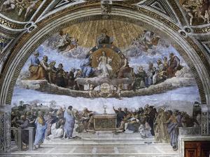La Disputa (Disputation of the Holy Sacrament) by Raphael