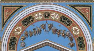 Loggia in the Vatican I (detail) by Raphael