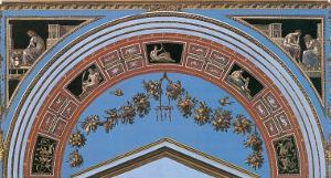 Loggia in the Vatican IV (detail) by Raphael
