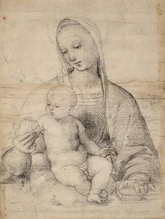 Madonna of the pomegranate, c.1504 by Raphael