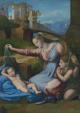 Madonna with the Blue Diadem, C. 1510 by Raphael