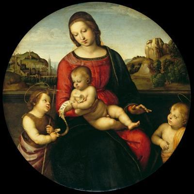Mary with the Child, John the Baptist and a Holy Boy (Madonna Terranuov), C. 1505 by Raphael