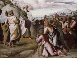 Moses Presenting the Ten Commandments by Raphael