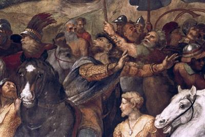 Pope Leo I, Repulsing Attila, (Detail), 1511-14 by Raphael