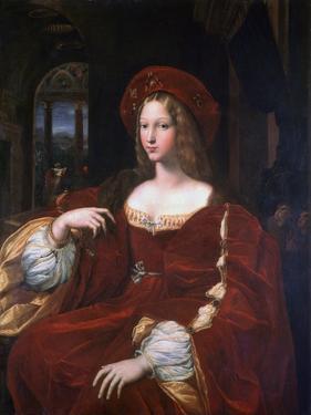 Portrait of Jeanne D'Aragon, 1518 by Raphael