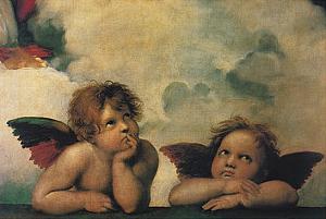 Santi Sixtinische Madonna Detail by Raphael