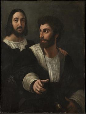 Self-Portrait with a Friend (Double Portrai), 1519 by Raphael