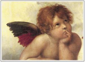 Sistine Madonna Detail 2 by Raphael