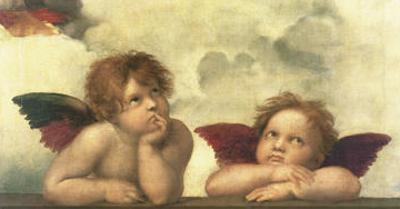 Sistine Madonna Detail by Raphael
