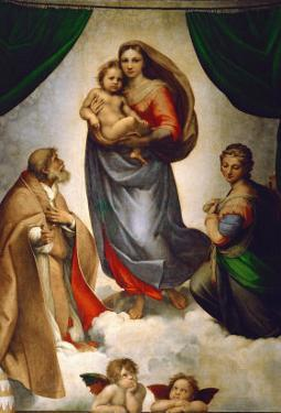Sistine Madonna, Painted for Pope Julius II as His Present to City of Piacenza, Italy, 1512-1513 by Raphael