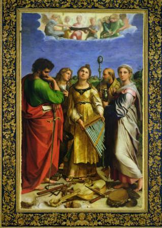 St. Cecilia Surrounded by St. Paul, St. John the Evangelist, St. Augustine and Mary Magdalene
