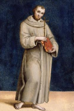 St. Francis of Assisi, Panel from the Predella of the Colonna Altarpiece, C.1502 by Raphael