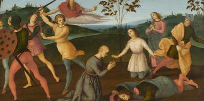 St. Jerome Saving Sylvanus and Punishing the Heretic Sabinianus, 1502-1503 by Raphael