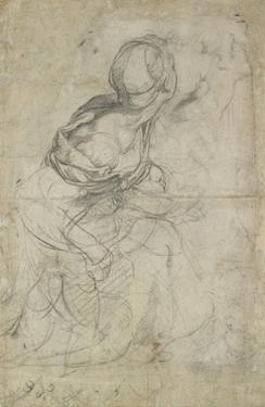 Studies for Two Kneeling Women by Raphael