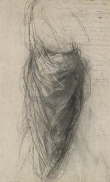 Study for the Drapery of a Man in Back View by Raphael