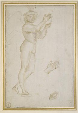 Study of a Young Man Making Music by Raphael