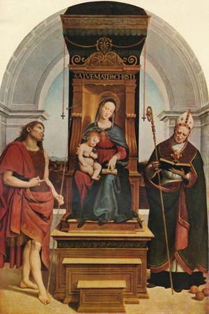The Ansidei Madonna, 1505, (1911) by Raphael