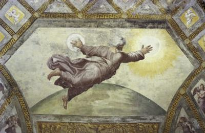 The Creation of the Sun and Moon by Raphael