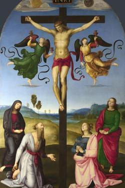 The Crucified Christ with the Virgin Mary, Saints and Angels (The Mond Crucifixio), 1502-1503 by Raphael