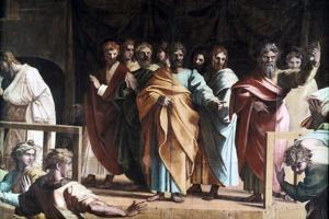 The Death of Ananias, 1515 by Raphael
