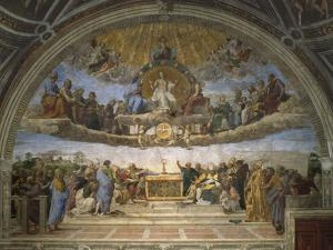 The Disputation of the Holy Sacrament, from the Stanza Della Segnatura, 1509-10 by Raphael