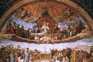 'The Disputation on the Holy Sacrament', 1508-1509. Artist: Raphael by Raphael