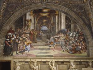 The Expulsion of Heliodorus from the Temple, Stanza Di Eliodoro, 1511-12 by Raphael