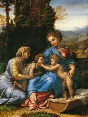 The Holy Family (La Petite Sainte Famille) by Raphael