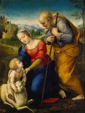 The Holy Family with a Lamb, 1507 by Raphael