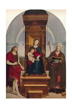 'The Madonna Degli Ansidei', 1505, (c1915)