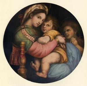 'The Madonna Della Sedia', c1514, (c1912) by Raphael