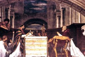The Mass at Bolsena Detail, 1512 by Raphael