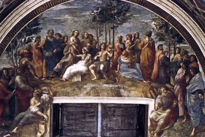 The Parnassus, from the Stanza Delle Segnatura, 1510-1511 by Raphael