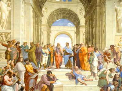 Raphael (The School of Athens) Restored Art Poster Print