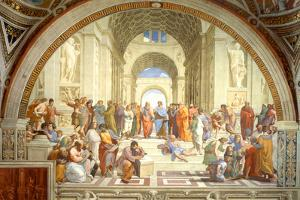 The School of Athens Scuola di Atene by Raphael Plastic Sign by Raphael