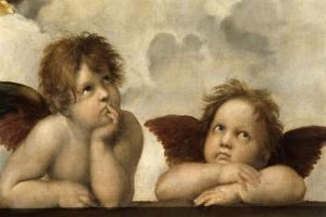 The Sistine Madonna (Detail) by Raphael