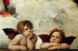 The Two Angels by Raphael