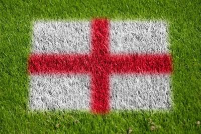 Flag of England on Grass